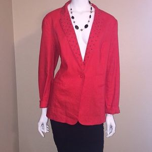 Rock & Republic, Women red blazer size 12